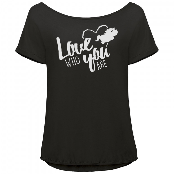 Pummeleinhorn T-Shirt Orchid - love who you are (schwarz/grau)