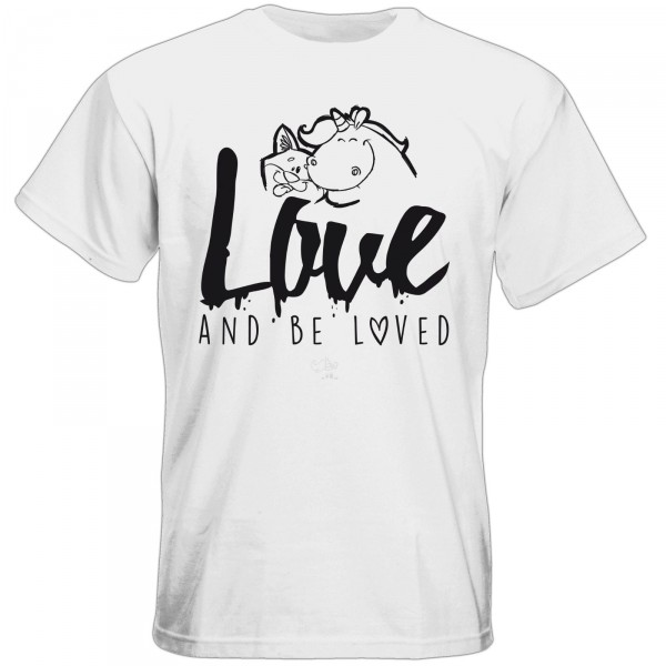 T-Shirt - love and be loved (weiß)