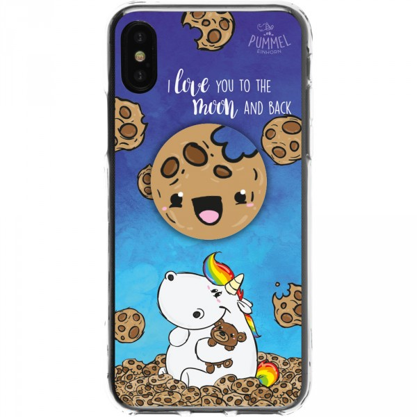 Pummeleinhorn Handyhülle iPhone X - Goodnight + Cookie PopSockets