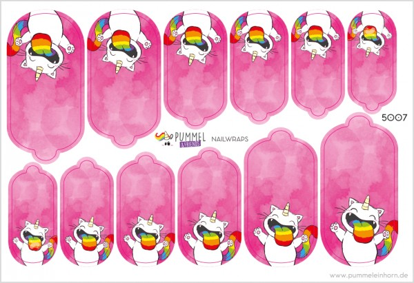 Pummel & Friends - Nailsticker - Purricorn