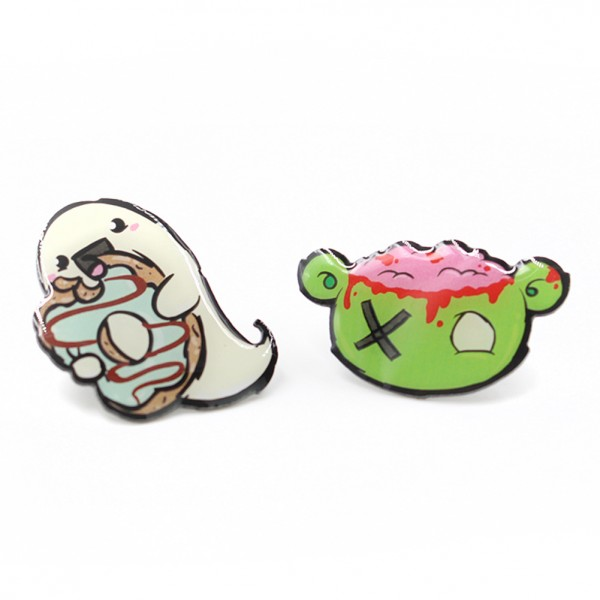 Pummel & Friends - Pins (2er Set) - Zonbi & Boo