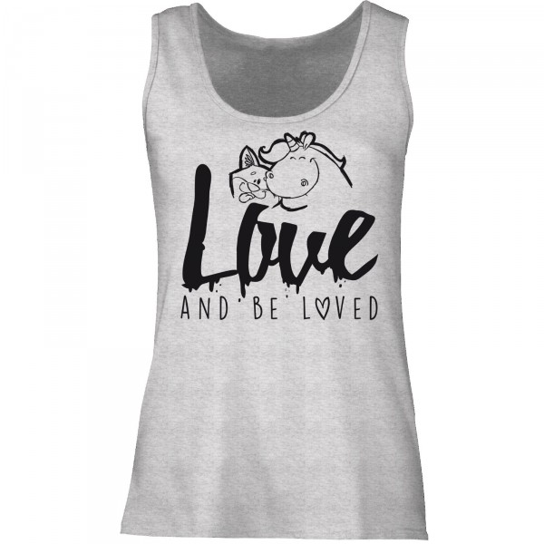 Tanktop Ladyfit - love and be loved (graumeliert)