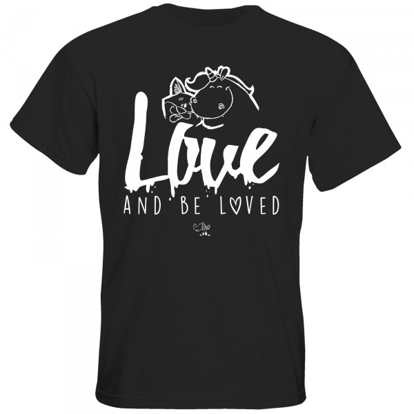 T-Shirt - love and be loved (schwarz)