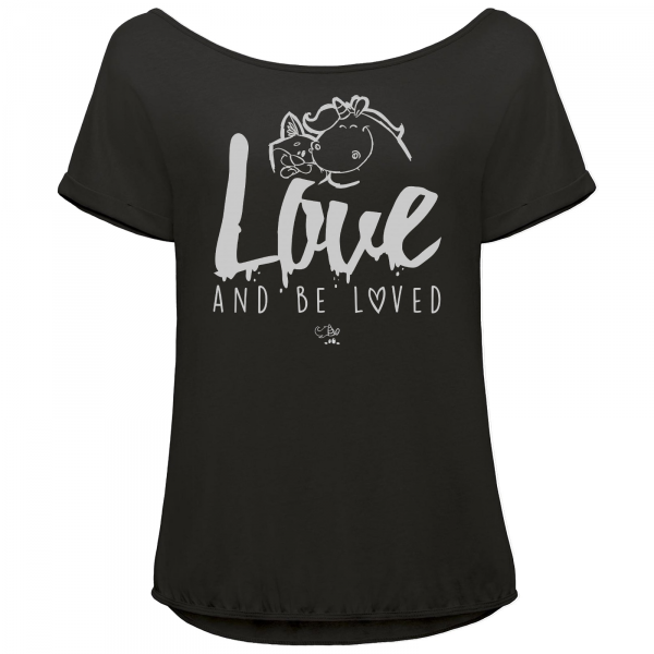 Pummeleinhorn T-Shirt Orchid - love and be loved (schwarz/grau)