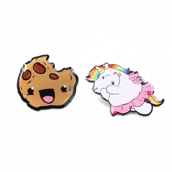 Pummel & Friends - Pins (2er Set) - Pummelfee & Cookie