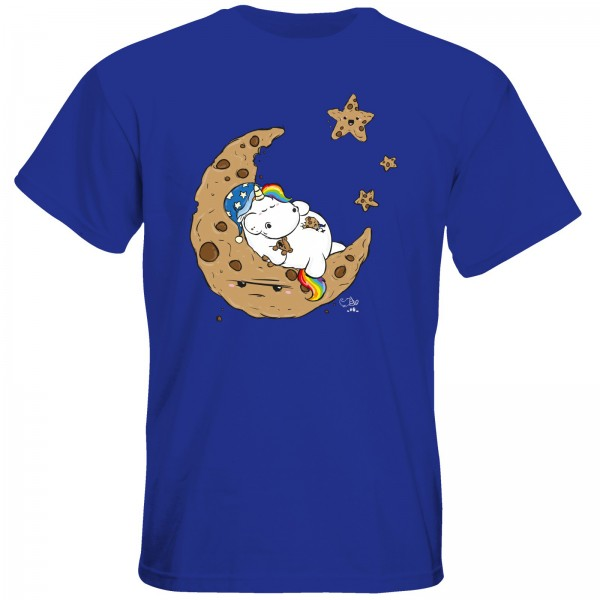 T-Shirt - Goodnight Cookiemoon (royal blue)