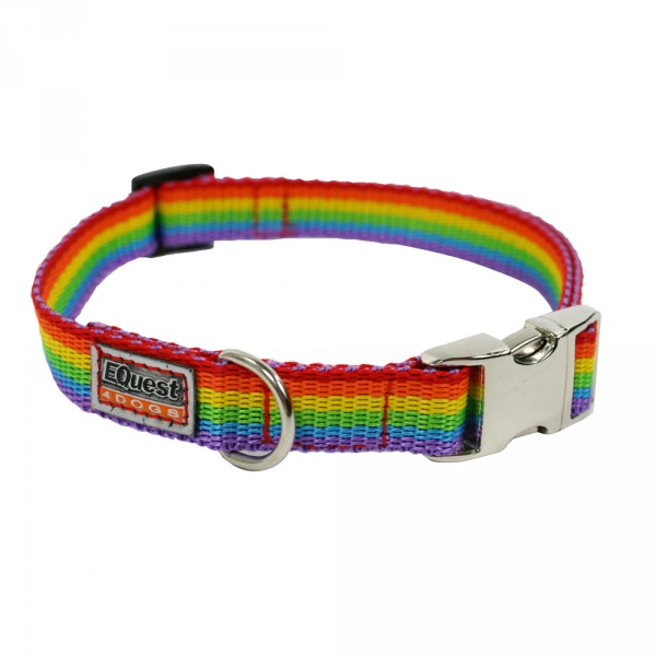 Pummel & Friends - Hundehalsband (Regenbogen, 20mm) - Fashion