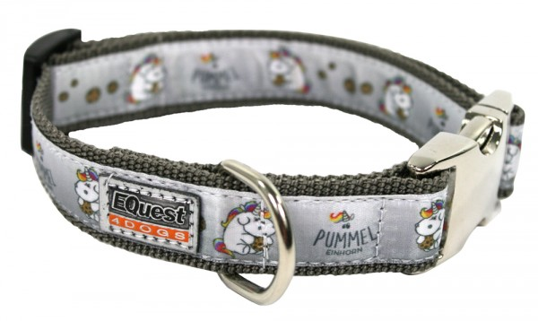 Pummeleinhorn Hundehalsband - Fashion (Anthrazit 25mm)
