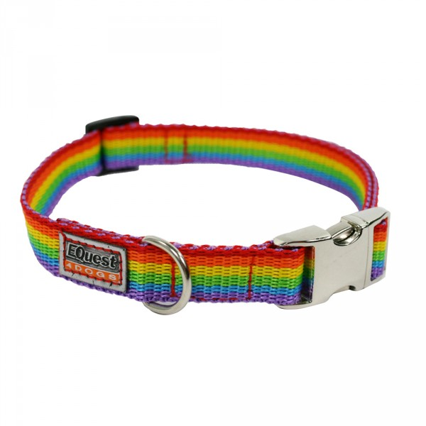 Pummel & Friends - Hundehalsband (Regenbogen, 25mm) - Fashion