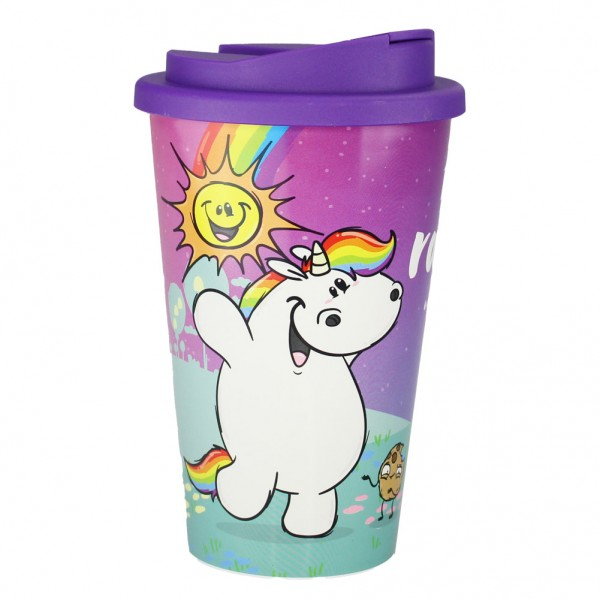 Pummel & Friends - Coffee to go Becher (350 ml) - Pummel & Grummel Regenbogen