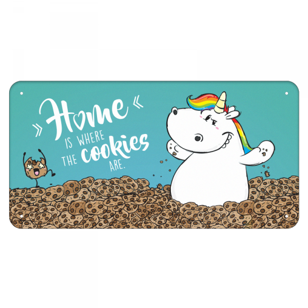 Pummeleinhorn Dekoschild - Cookie Home