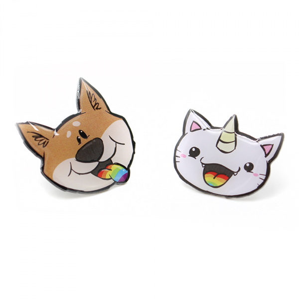 Pummel & Friends - Pins (2er Set) - Purricorn & Bisu